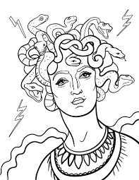 Small Picture Free Medusa Coloring Page