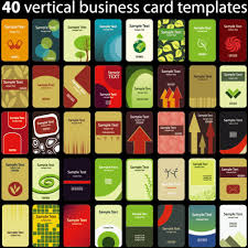 Set Of Vertical Business Card Templates Vector Free Vector