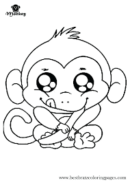 Monkey Coloring Pages Printable Monkey Coloring Pages Printable Sock