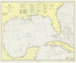 Historical Nautical Chart 1007a 7 1947 Gulf Of Mexico