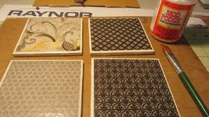 how to make coasters with tiles sbook paper mod podge