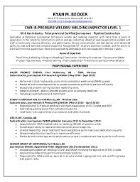 Welder Resume Simple Ryan Becker Welding Resume
