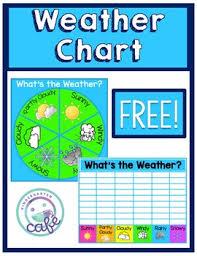 Weather Chart Freebie Neon Style By Kindergarten Cafe Tpt