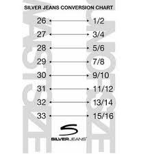 Silver Jeans Size Guide Ye Jean