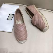 Designer White Flats 2019 Womens Espadrilles Leather Designer Shoes Black White Canvas Fashion Flats Loafers Luxury Lambskin Online Sales