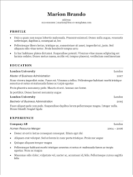 Resume Templates Com Frame Free Word Cv Template