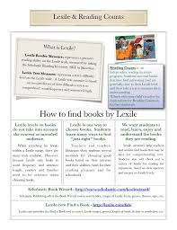 Scholastic Reading Counts Lexile Chart Lexile Reading Counts What Is Lexile