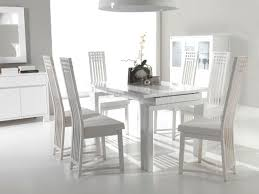 white dining table set. Amazing Images Of Dining Room Design And Decoration With Various White Wood Chair : Contemporary Table Set A