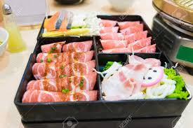 Pink Kamaboko Sliced Japanese Fish Cake Pork Belly Sliced And