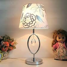 small touch table lamps bedside table lamp touch modern lamps fl printed fabric shade with crystal
