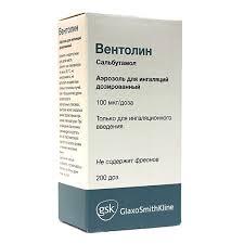 Купить <b>Вентолин аэрозоль для ингаляций</b> дозированный 100 мкг ...
