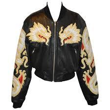 michael hoban north beach leather er soft zipper dragon calfskin jacket