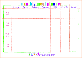 monthly meal planner template 3 monthly meal planner template letter format for