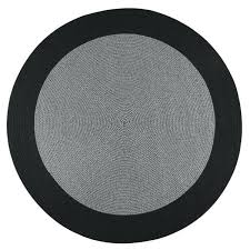 black braided rug indoor outdoor black braided rug 6 round black and white wool braided rug