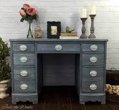 Painted Shabby Chic Hepplewhite Desk, shabby chic desk, vintage desk,  painted desk,