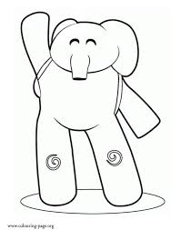 Small Picture Pocoyo Friendly elephant Elly coloring page