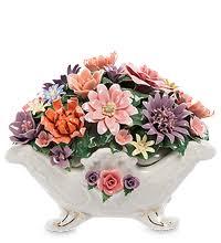 Фигурки <b>цветочных</b> композиций из фарфора | Коллекция CMS