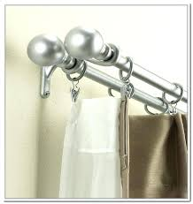 curved double shower rod chrome double curtain rod double shower curtain rod double curved adjule double