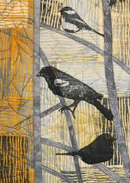 "Rocky Mountain Quilt Museum   Studio Art Quilt Associates of CO/UT/WY & cynthia winter birds detail. "" Adamdwight.com"