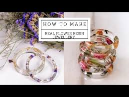 how to put real flowers in resin