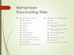 english i can edit sentences for mistakes in  2 remember punctuating titles