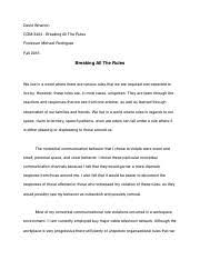 com nonverbal communication fiu page course hero 4 pages essay 2 breaking all the rules