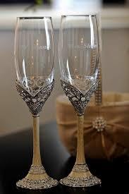 unique champagne flutes. Antique Champagne Flutes For Bride And Groom Unique L