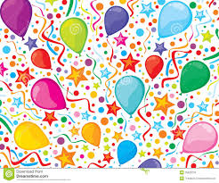 Free Birthday Backgrounds Birthday Background With Party Streamers And Confe Stock