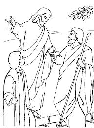 Emmausgangers Kleurplaat Religion Ausmalbilder Animaatjes De