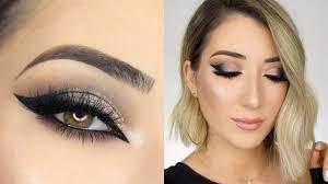 cut crease smokey cat eye makeup tutorial