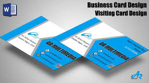 how to create business cards in word ms word tutorial create professional business card design
