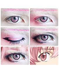 cosplay ideen coole klamotten anime augen make up anime cosplay make