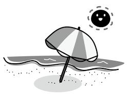 海ビーチの白黒イラスト かわいい無料の白黒イラスト モノぽっと