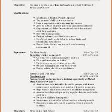 Career Objective For Teacher Resumes New Resume Career Objective Teacher Pal Pac Org