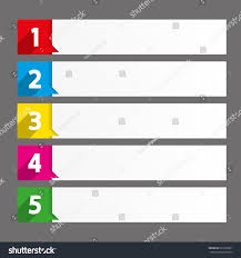 Ranking Chart Table Contents Use Template Sequence Rank Stock Vector