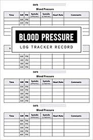 Blood Pressure Log Record Health Planner Blood Pressure