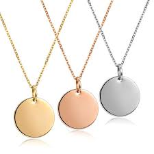 tiny coin disc necklace rose gold karma circle lucky charm minimalist choker collier for femme jewelry romantic valentine s gift pendant necklaces
