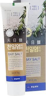 Hanil <b>Зубная паста</b> c натуральной морской солью <b>Bay</b> salt, 180 мл