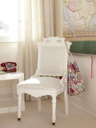 white wood desk chair with tiny colorful polka dot upholstered for girls excellent designs ideas