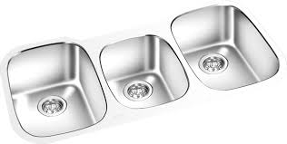 Triple Bowl Under Mount Kitchen Sink 42 X 18 American Bath