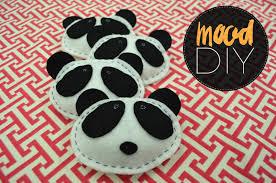 Pattern Weights Adorable Mood DIY Felt Panda Pattern Weights Mood Sewciety