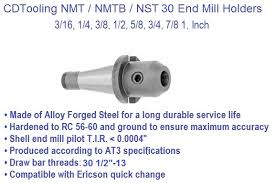 cat 40 tool holder dimensions. nst30, nmtb30, end mill holders cat 40 tool holder dimensions