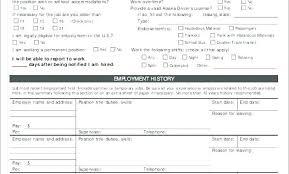 Printable Sample Job Applications Standard Job Application Form Printable Piazzola Co