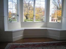 Window seat built into 45deg Bay