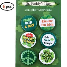 Volcanics St Patricks Day Irish Buttons Pins Set Of 6 Fun Buttons With Irish Sayings For Your Party Parade Or Celebration Fun Decorations Great