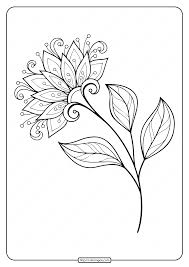 Flowers coloring pages collection for your kids. Printable Flower Coloring Pages