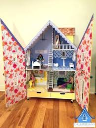 wooden barbie dollhouse furniture. Wooden Barbie Dollhouse Doll House Furniture Alpine Wood Both Front Open . T