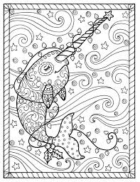 Small Picture Narwhal Christmas Coloring pages Adult coloring books