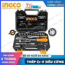 Bộ đồ nghề đa năng INGCO HKTS14451 thép Cr-V chống rỉ sét siêu cứng cần  siết lực tua vít đầu tuýp thanh nối sữa chữa chính hãng 540,000đ