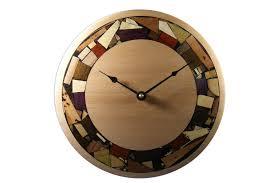 modern mosaic clock wooden wall clock all natural wood